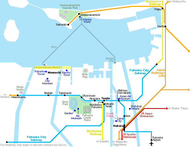Fukuoka City Map